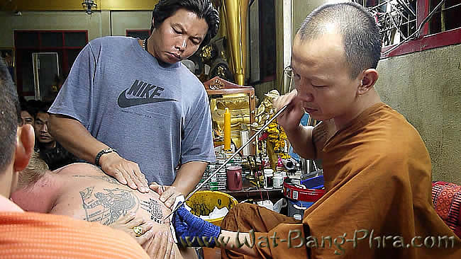 Farrang gets Sak Yant Tattoo