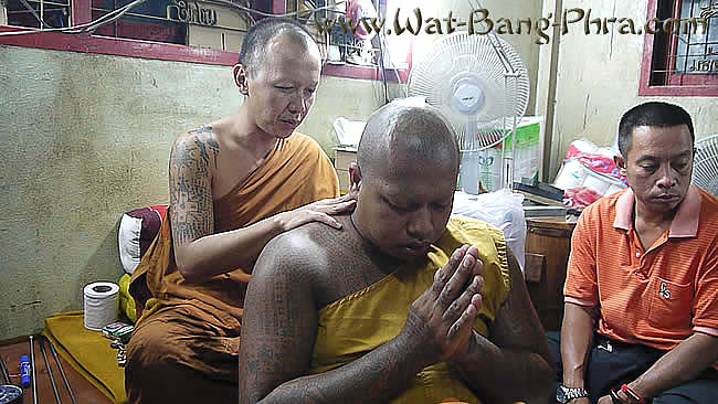 Blessing of Sak Yant Yantra tattoo