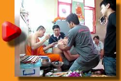 Yant Gao Yord Tattoo start with tattooing