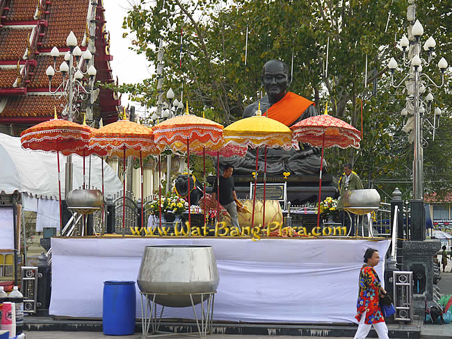 Wat Bang Phra stage before Festival
